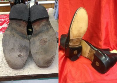 Before and After shoes